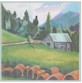 click here to view larger image of Mountain Farm Landscape (hand painted canvases)
