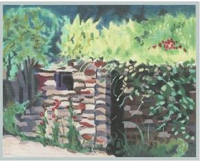 click here to view larger image of Stone Wall (hand painted canvases)