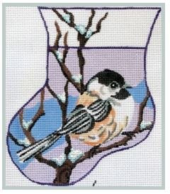 click here to view larger image of Chickadee Perched on Twigs Mini (hand painted canvases)