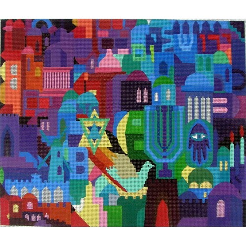 click here to view larger image of Jerusalem Mosaic (hand painted canvases)