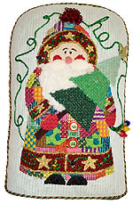 click here to view larger image of Patchwork Santa (hand painted canvases)