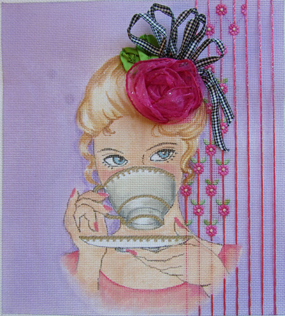 click here to view larger image of Rose Facinator (hand painted canvases)