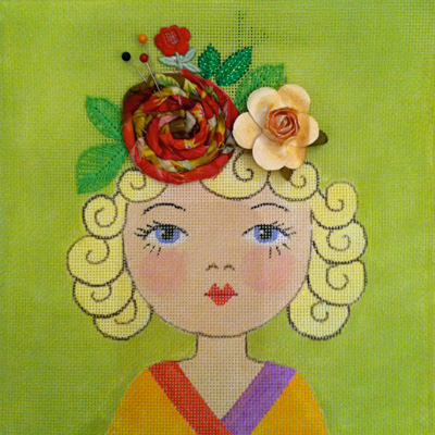 click here to view larger image of Kidlet-Rosie (hand painted canvases)