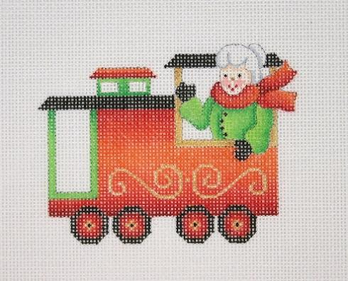 click here to view larger image of Christmas Train - Caboose with Mrs Clause (hand painted canvases)
