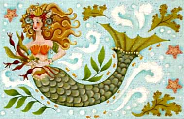 click here to view larger image of Under the Sea Mermaid (hand painted canvases)