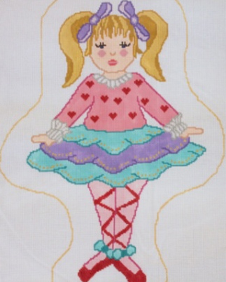 click here to view larger image of Ballerina Doll (hand painted canvases)