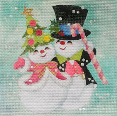 click here to view larger image of Snow Couple (hand painted canvases)