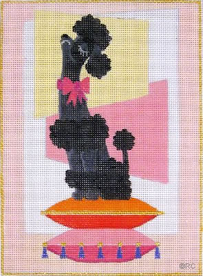 click here to view larger image of Snooty Poodle - Black (hand painted canvases)