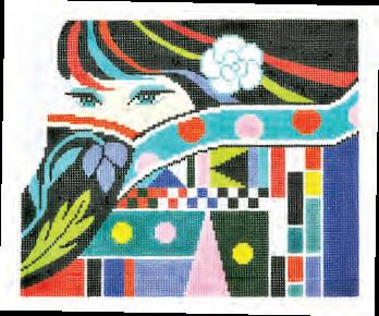 click here to view larger image of Lady Eyes (hand painted canvases)
