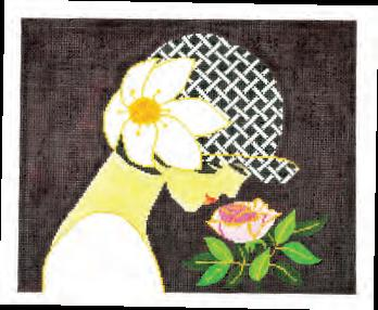 click here to view larger image of Rose Lady (hand painted canvases)
