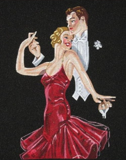 click here to view larger image of At The Ball (hand painted canvases)