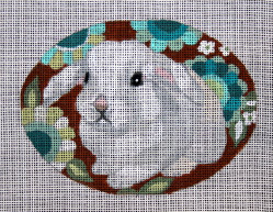click here to view larger image of White Bunny (hand painted canvases)