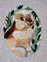 click here to view larger image of Bunny in Greens (hand painted canvases)