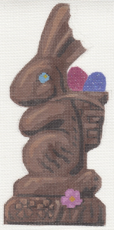 Large Chocolate Bunny With Bite hand painted canvases