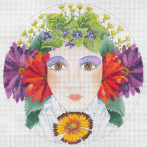 click here to view larger image of Flower Girl Spring (hand painted canvases)