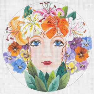 click here to view larger image of Flower Girl Summer (hand painted canvases)