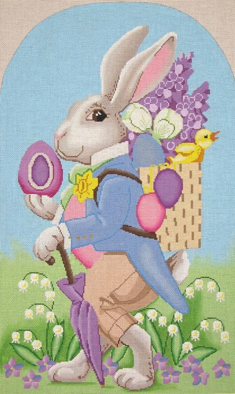 click here to view larger image of Peter Rabbit (18ct) (hand painted canvases)