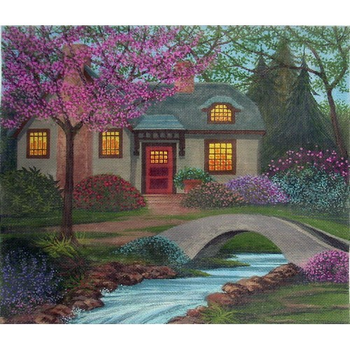 click here to view larger image of Creekside Cottage (hand painted canvases)