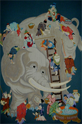 click here to view larger image of Bathtime - Small (hand painted canvases)