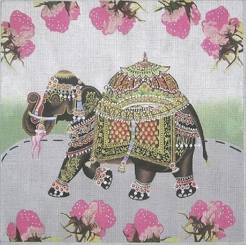 click here to view larger image of Elephant Pastel (hand painted canvases)