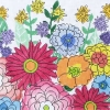click here to view larger image of Large Garden Jewels 3 (hand painted canvases)