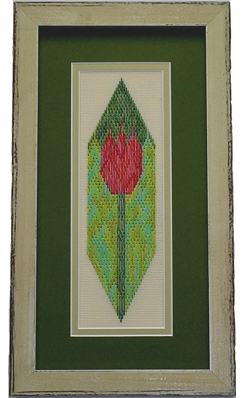 click here to view larger image of Red Tulip, The (counted canvas work)