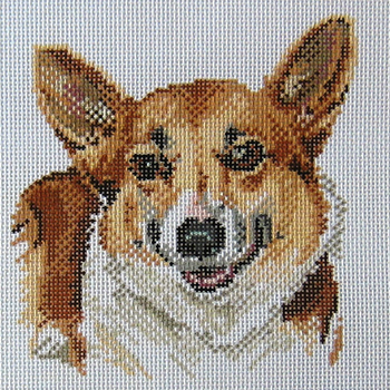 click here to view larger image of Brande's Corgi (hand painted canvases)