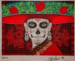 click here to view larger image of La Calaca Chara (hand painted canvases)