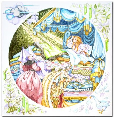 click here to view larger image of Princess and the Pea Pillow (hand painted canvases)