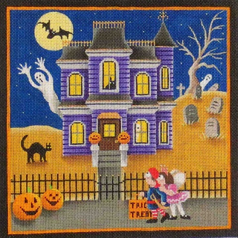 click here to view larger image of Halloween Spooks (hand painted canvases)