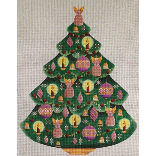 click here to view larger image of Mauve Angel Tree (hand painted canvases)