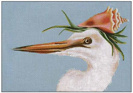 Avery - White Heron hand painted canvases