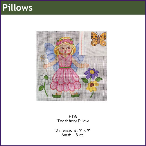 click here to view larger image of Toothfairy Pillow (hand painted canvases)
