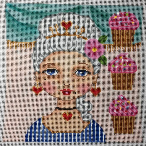 click here to view larger image of Marie Antoinette - Let Them Eat Cupcakes (hand painted canvases)