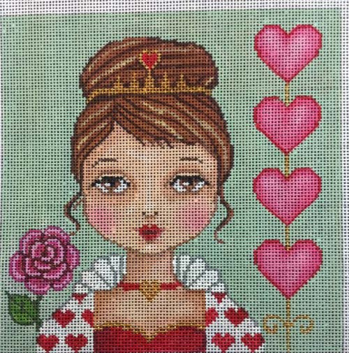 click here to view larger image of Queen of Hearts (hand painted canvases)