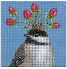 click here to view larger image of Berry Chickadee (hand painted canvases)