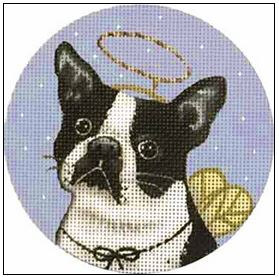 click here to view larger image of Boston Terrier Ornament (hand painted canvases)