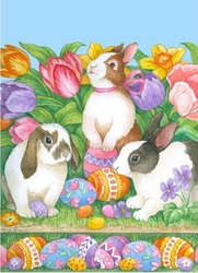 click here to view larger image of Easter Bunnies (hand painted canvases)