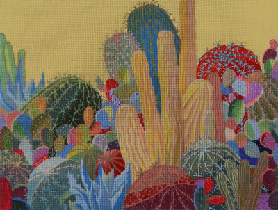 click here to view larger image of Desert Garden (hand painted canvases)