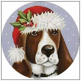 click here to view larger image of Basset Hound Ornament (hand painted canvases)