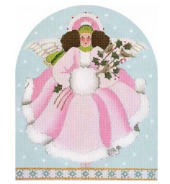 click here to view larger image of Pink Winter Angel (hand painted canvases)