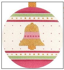 click here to view larger image of Pink Bell Ornament (hand painted canvases)