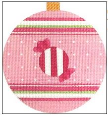 click here to view larger image of Pink Candy Ornament (hand painted canvases)