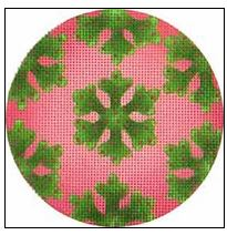 click here to view larger image of Greenery Snowflakes Ornament (hand painted canvases)