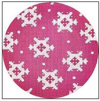 click here to view larger image of White Snowflakes Ornament (hand painted canvases)