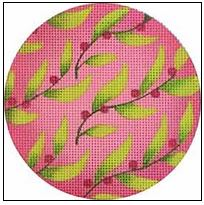 click here to view larger image of Leaves Ornament (hand painted canvases)