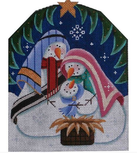 click here to view larger image of Snowman Nativity (hand painted canvases)