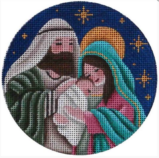 click here to view larger image of Nativity Ornament (hand painted canvases)