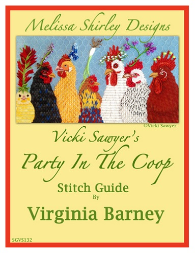 click here to view larger image of Party In The Coop - Stitch Guide (books)
