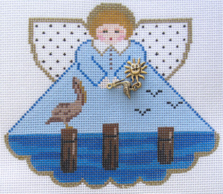 click here to view larger image of Pelican Wharf Angel (hand painted canvases)
